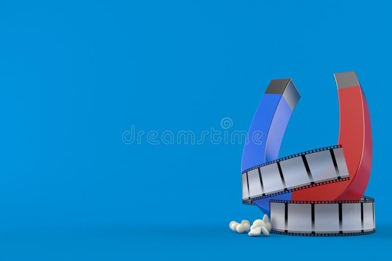 有影片小条的马掌磁铁 向量例证