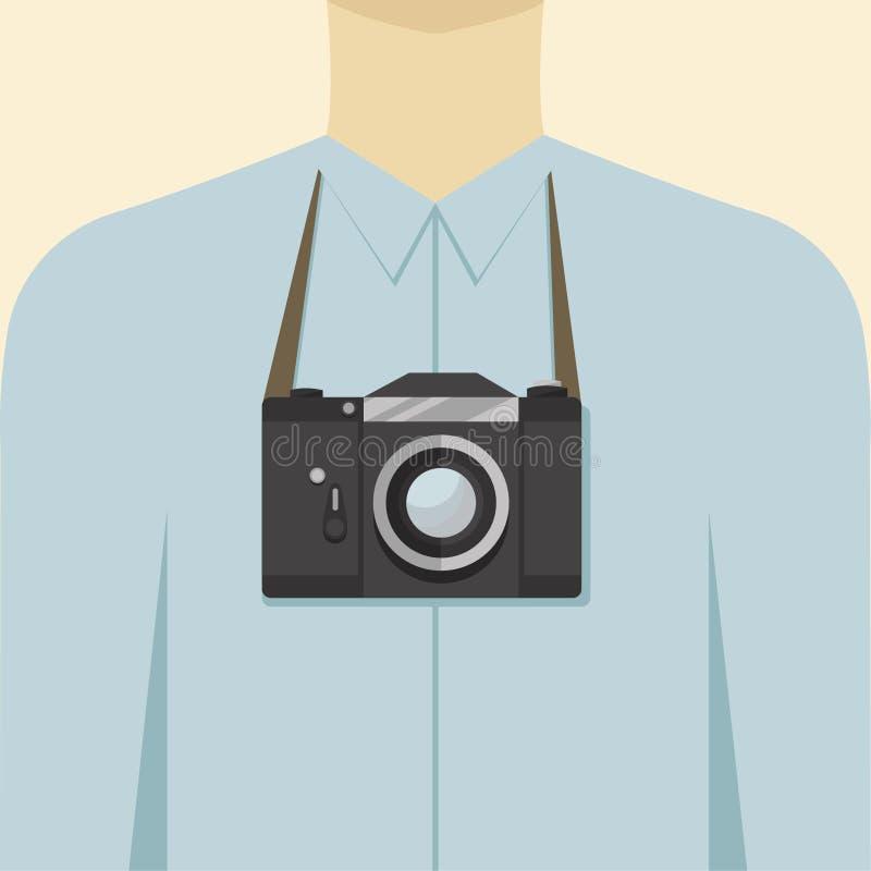 有影片照相机的人 免版税图库摄影