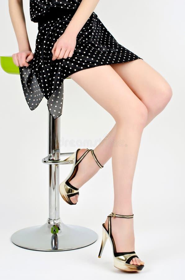 热的吸引的腿。 图库摄影
