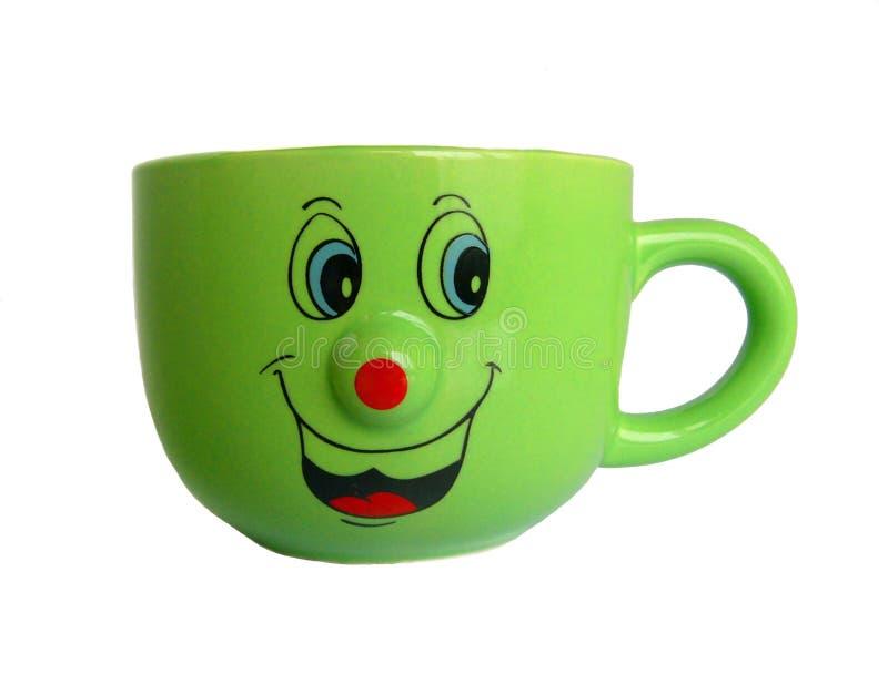 有微笑的杯 免版税库存照片