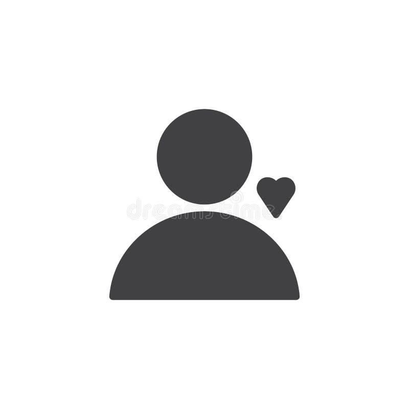 有心脏传染媒介象的用户 向量例证