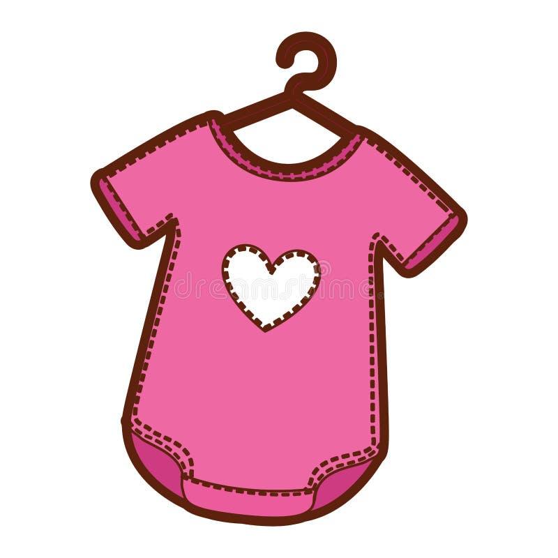 有心脏的婴孩成套装备 库存例证