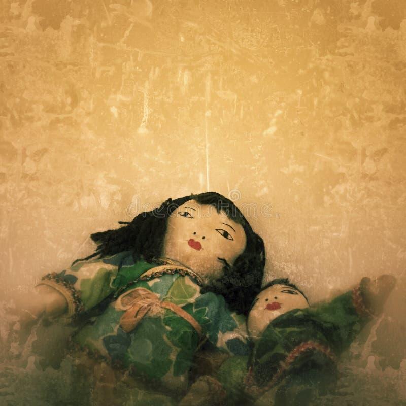 有恶魔般的表示的可怕玩偶 库存图片