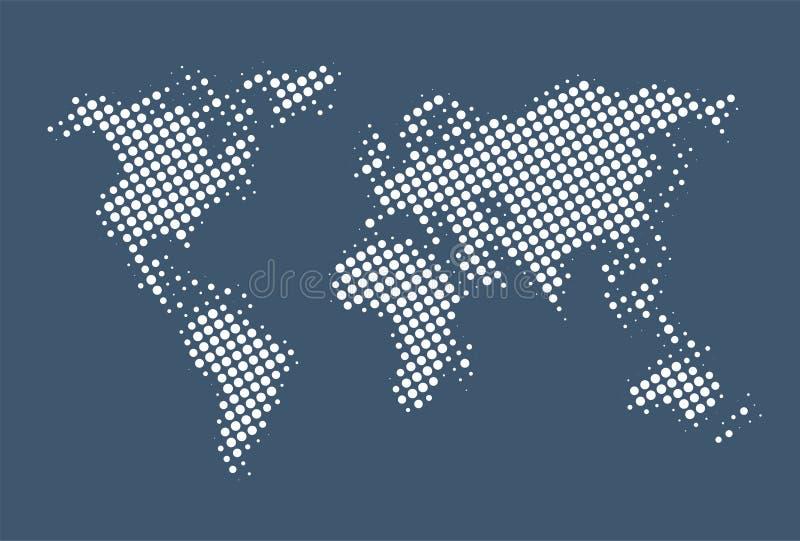 有想象力的世界地图设计 向量例证