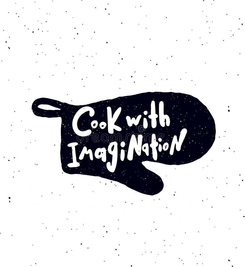有想象力的厨师 向量例证