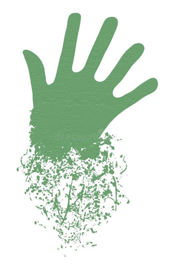 有想象力的手 向量例证