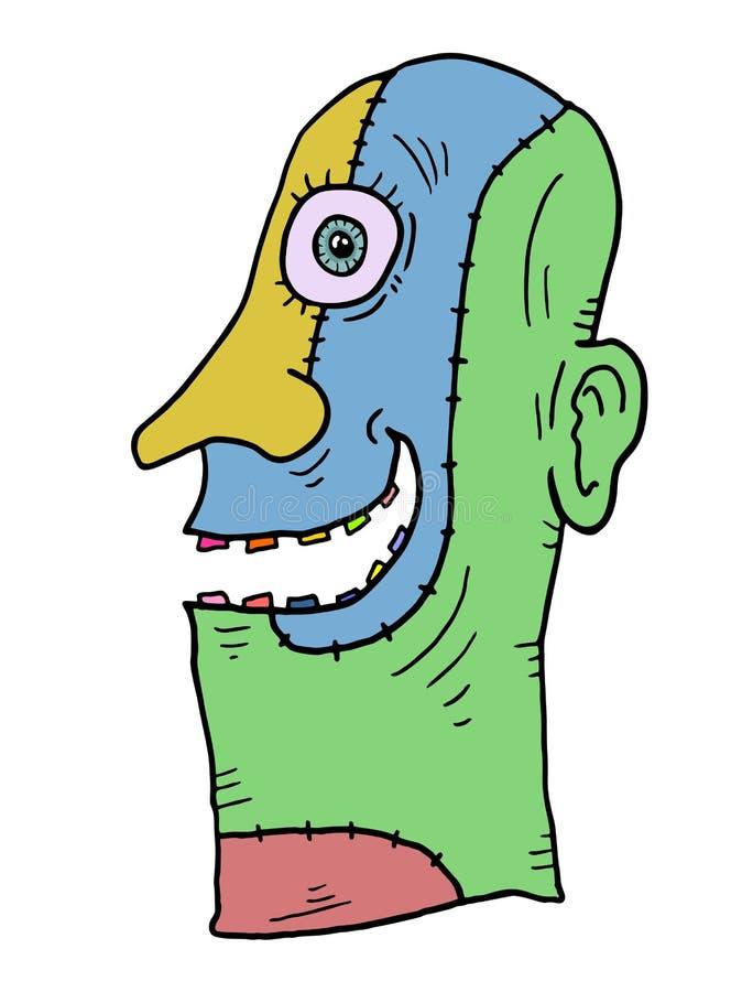 有想象力的颜色面具 库存例证