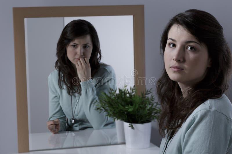 有感情问题的妇女 库存照片