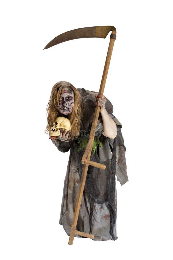有感觉的年轻丑恶的巫婆 免版税库存照片