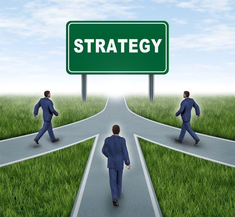 有战略意义的合伙企业 库存例证