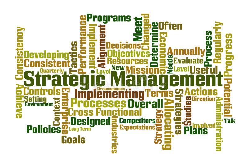 有战略意义的管理 向量例证