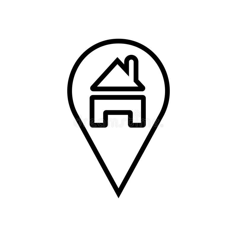 有房子标志的地点 库存例证