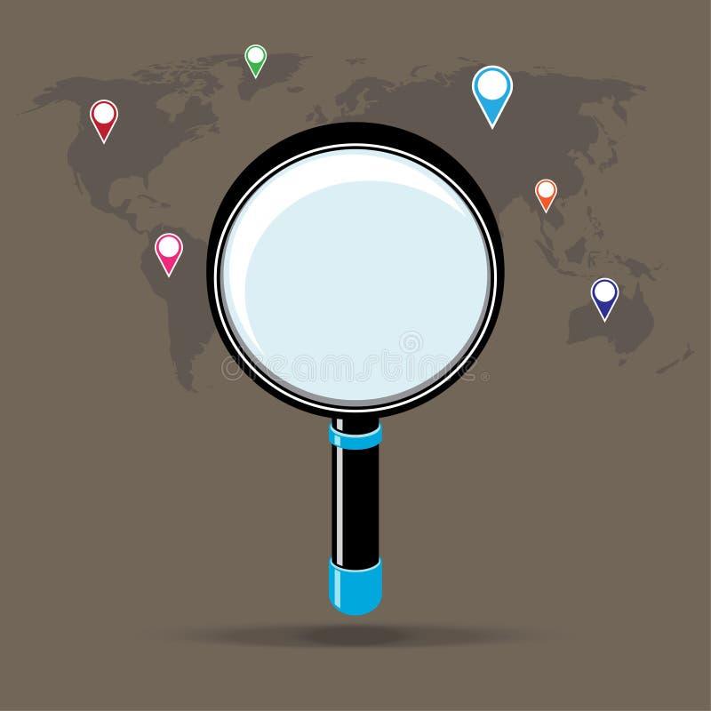 有扩大化的世界地图国家 皇族释放例证