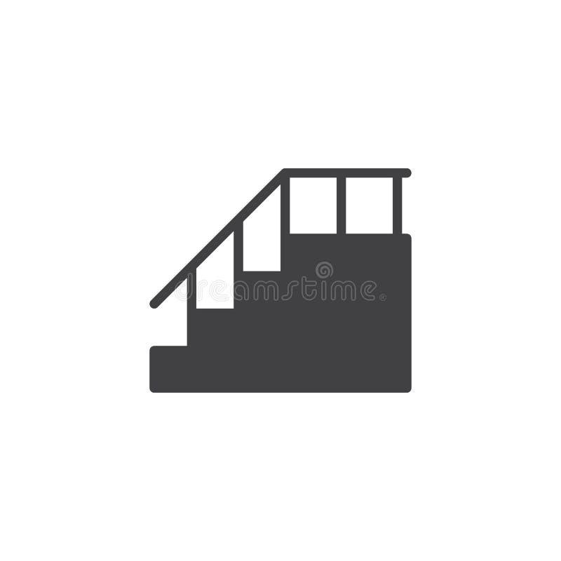 有扶手栏杆传染媒介象的台阶 皇族释放例证