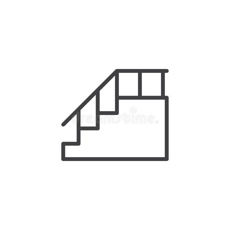 有扶手栏杆概述象的台阶 皇族释放例证