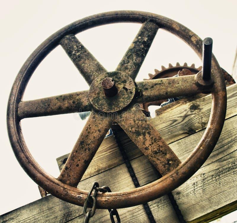 有把柄的工业轮子阀门 免版税库存照片