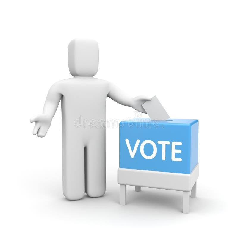 有投票箱的人 皇族释放例证