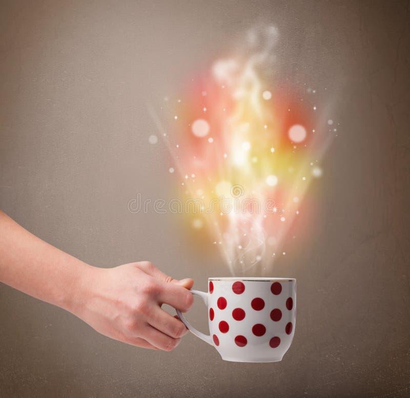 Download 有抽象蒸汽和五颜六色的光的咖啡杯 库存照片. 图片 包括有 特写镜头, browne, 抽烟, 食物, 咖啡 - 62526656