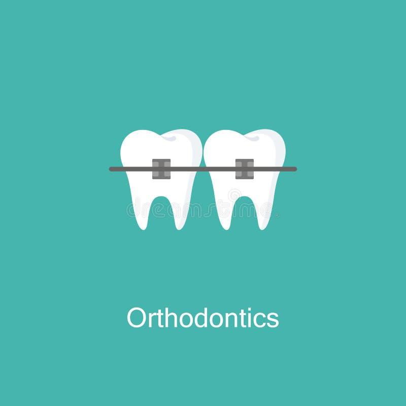 有括号象的牙 向量例证