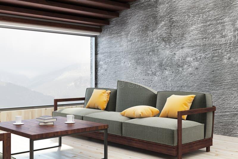 有拷贝空间的明亮的客厅 向量例证
