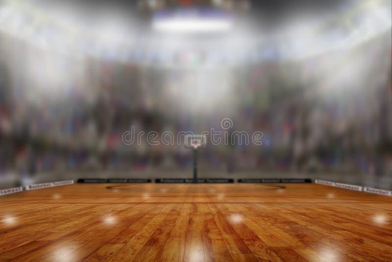 有拷贝空间的篮球竞技场 免版税库存照片