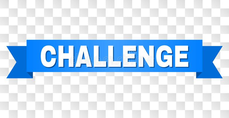 有挑战标题的蓝色磁带 库存例证