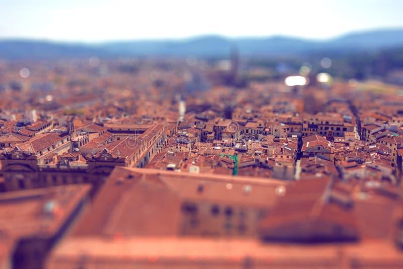 有掀动转移作用的意大利镇 库存图片