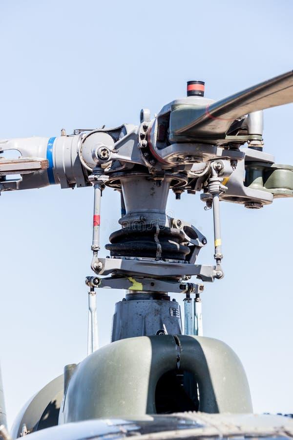 有推进器宏指令的直升机  免版税图库摄影