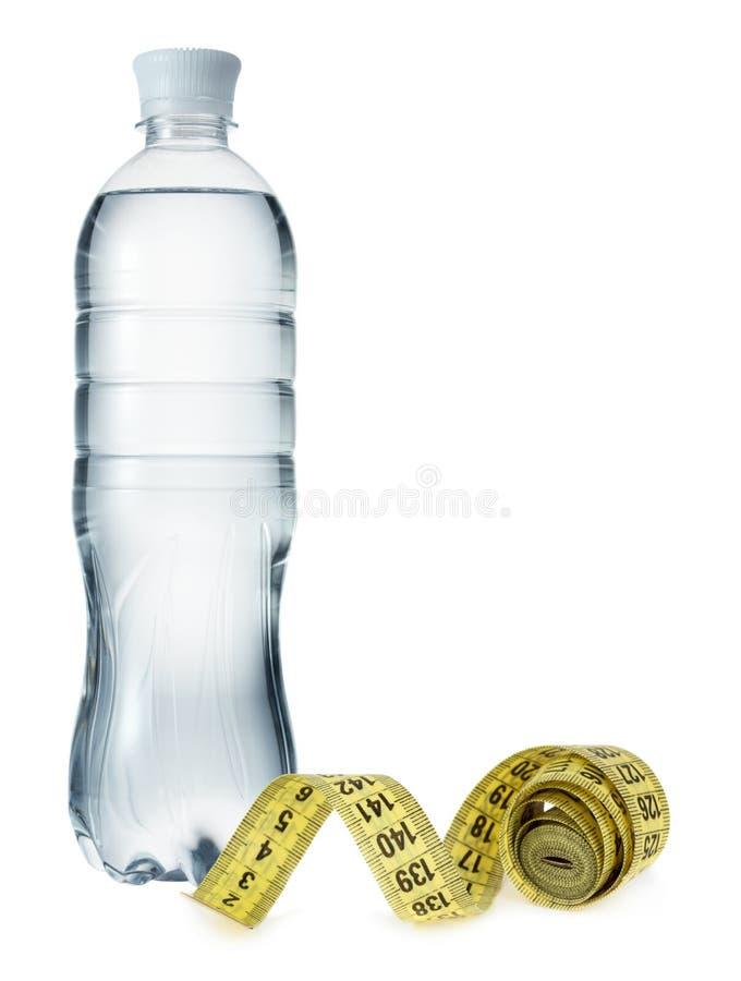有措施磁带的水瓶 库存照片
