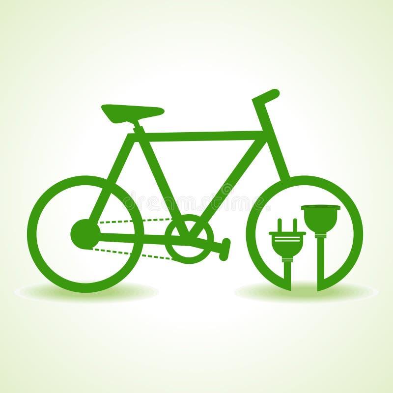 有插座和持有人的Eco自行车 库存例证