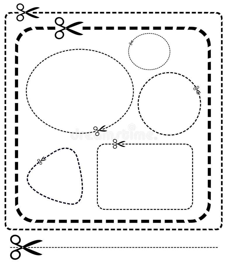 有插队的传染媒介剪刀 向量例证