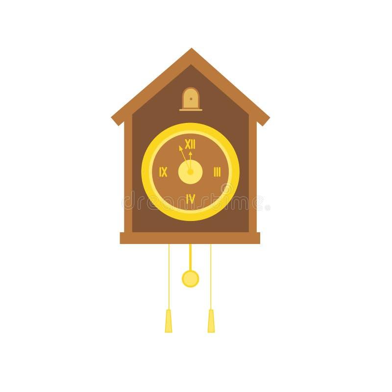 有摆锤的传统圣诞节布谷鸟钟 库存图片