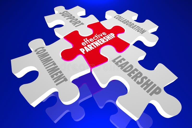 有效的合作难题编结领导合作3d Il 向量例证