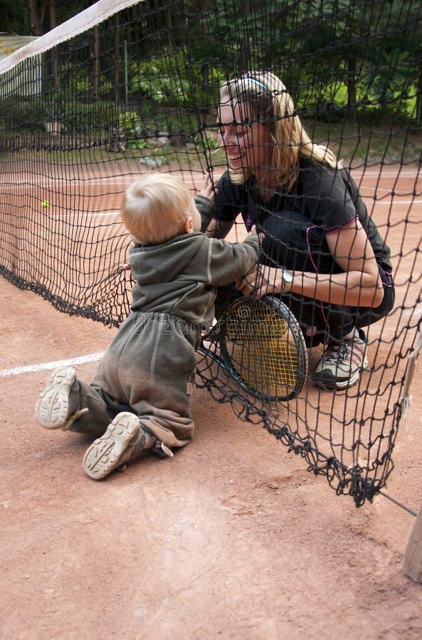 有效的母亲 免版税库存照片