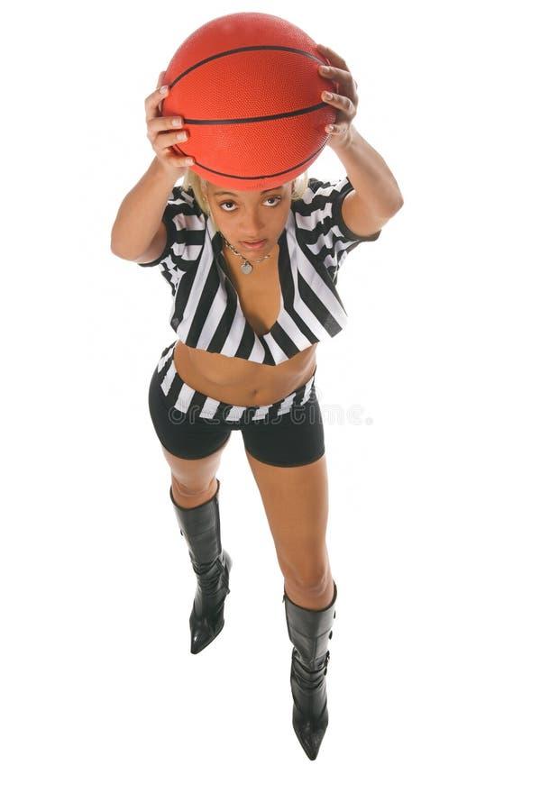 有效的篮球女孩 库存照片