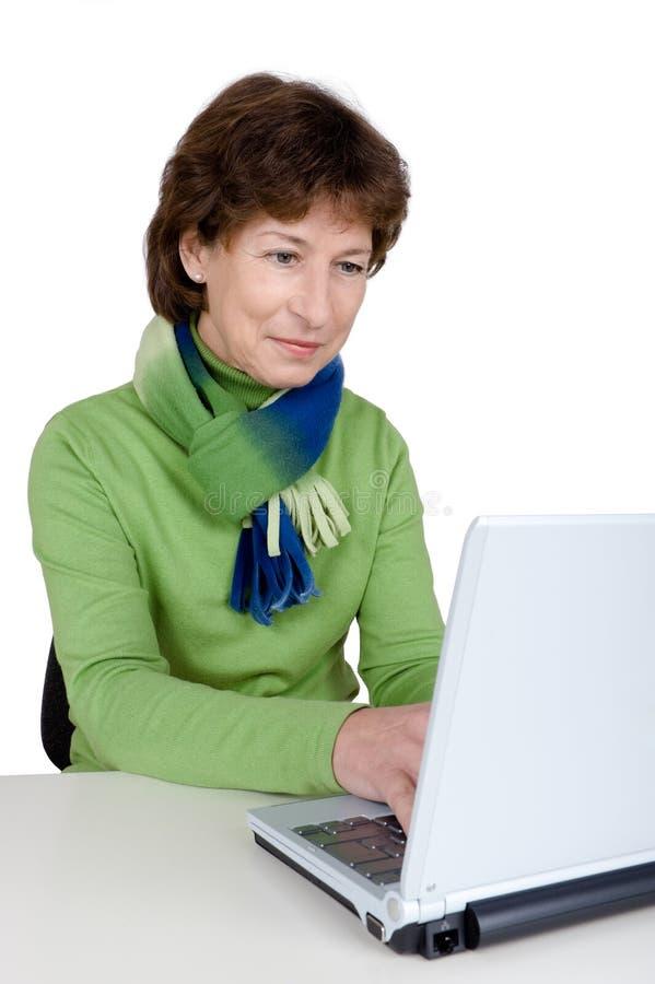 有效的高级妇女 免版税图库摄影