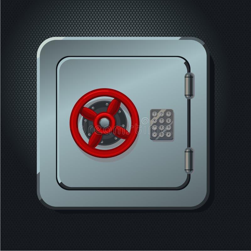 有数字式锁的金属安全箱子 Realictic传染媒介例证 向量例证