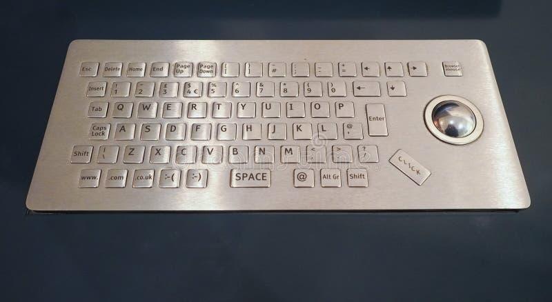 有数据输入装置的键盘 免版税库存照片