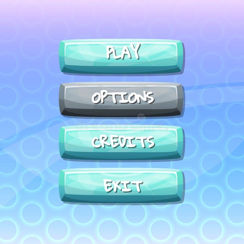 有文本的传染媒介按钮比赛的 库存例证