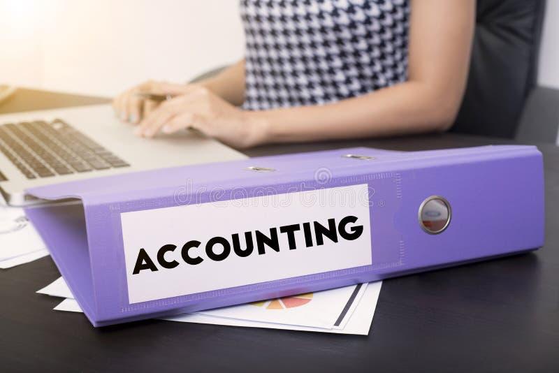 有文件会计的企业会计 免版税库存照片