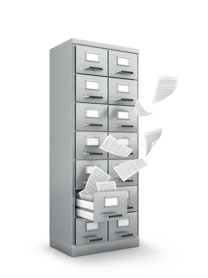 有文件夹的档案内阁 库存例证