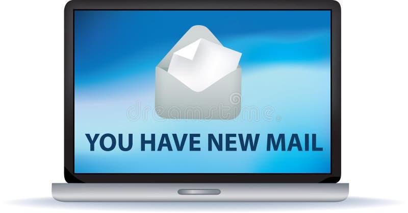 有新的邮件您 库存例证