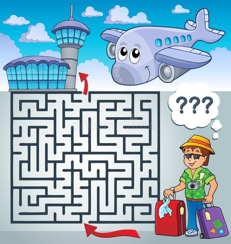 有旅行thematics的迷宫3 库存例证