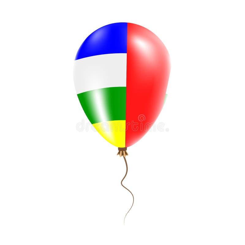 有旗子的中非共和国气球 皇族释放例证