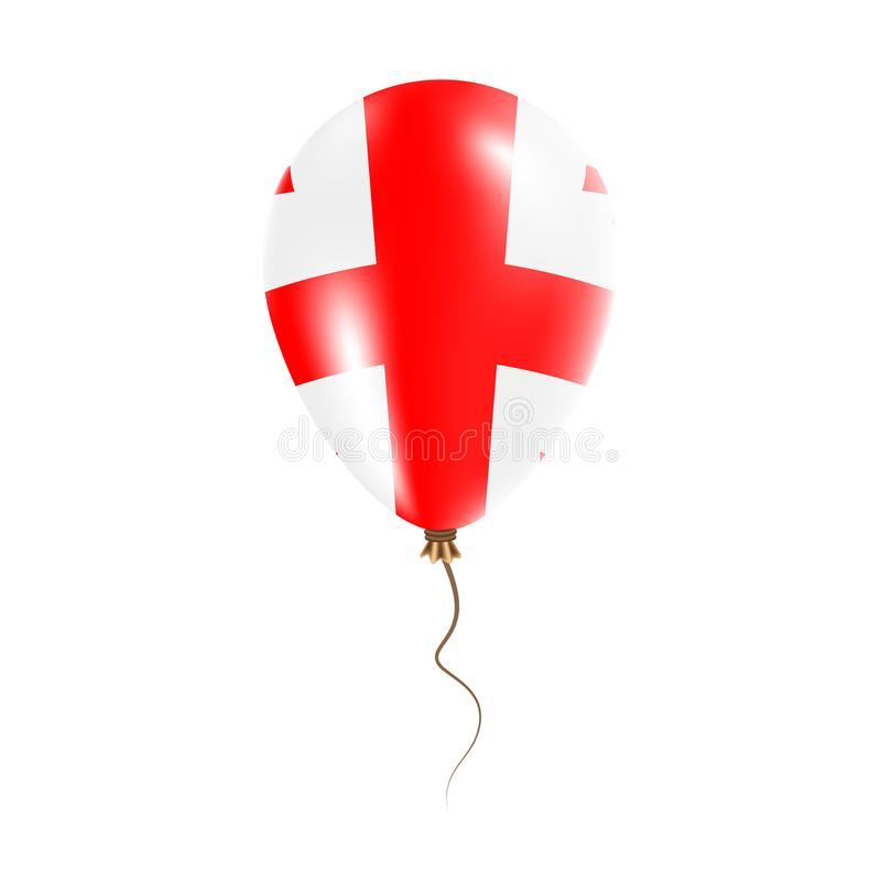 有旗子的乔治亚气球 库存例证