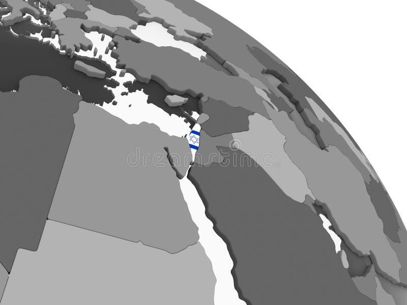 有旗子的以色列在地球 皇族释放例证
