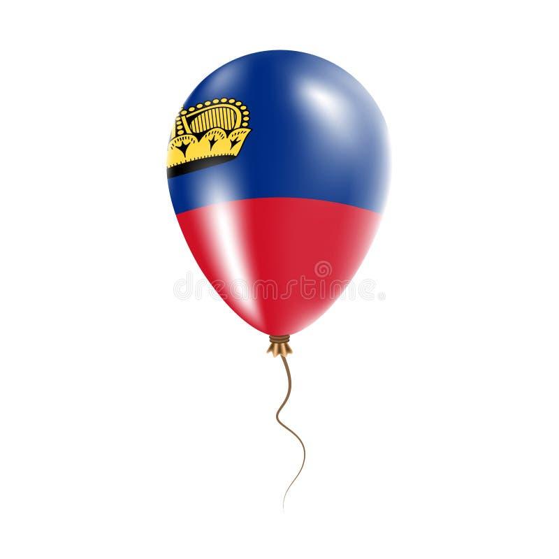有旗子的列支敦士登气球 皇族释放例证