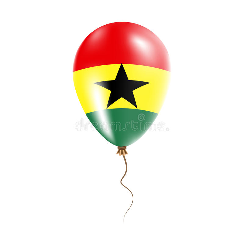 有旗子的加纳气球 向量例证