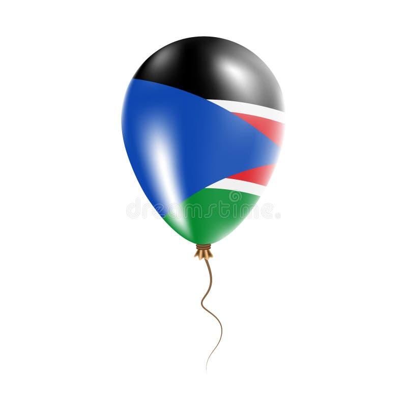 有旗子的南苏丹气球 皇族释放例证