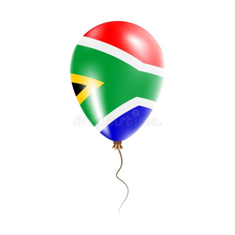 有旗子的南非气球 向量例证